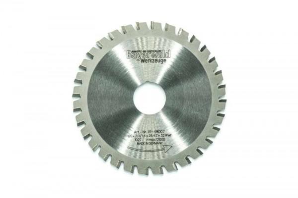 Multifunktionssägeblatt - Ø 120 mm x 2,0 mm x 25,4 mm   Z=32 WWF