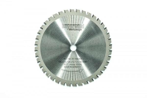 HM Multifunktions-Kreissägeblatt - Ø 156 mm x 2,0 mm x 12,7 mm | Z=40 WWF