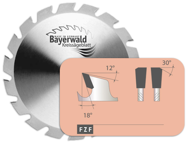 HM Kreissägeblatt - Ø 210 mm x 3,2 mm x 30 mm   Z=14 FZF