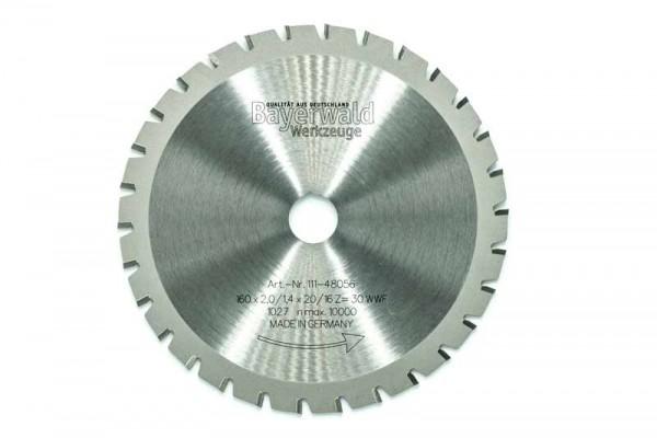 HM Multifunktions-Kreissägeblatt - Ø 160 mm x 2,0 mm x 20/16 mm | Z=30 WWF