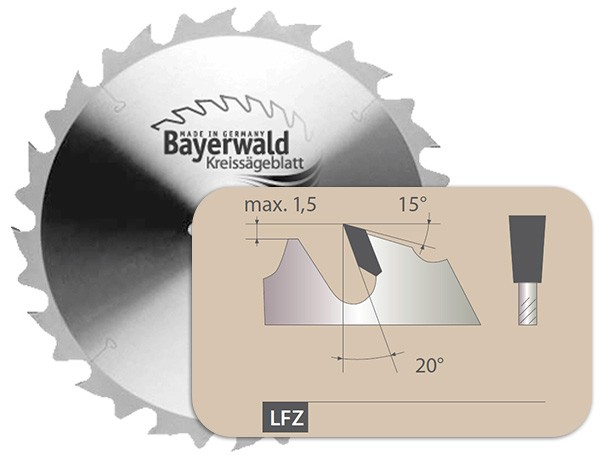 HM Kreissägeblatt - Ø 315 mm x 3,2 mm x 30 mm | Z=20 LFZ II