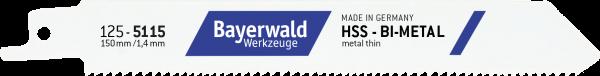 5x Bayerwald Werkzeuge Säbelsägeblatt Länge 150 mm