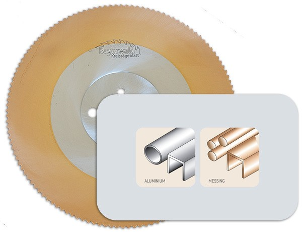 Bayerwald Werkzeuge HSS PVD gold NE Kreissägeblatt - 250 x 2 x 40 Z80 BW T10