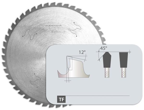 HM Dry Cuttter Profistahl - Zahnform Trapez Flachzahn