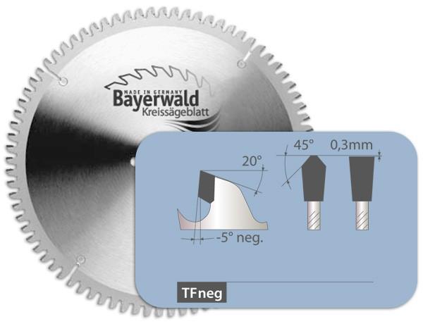 HM Kreissägeblatt - Ø 160 mm x 2,5 mm x 20 mm | Z=56 TF negativ