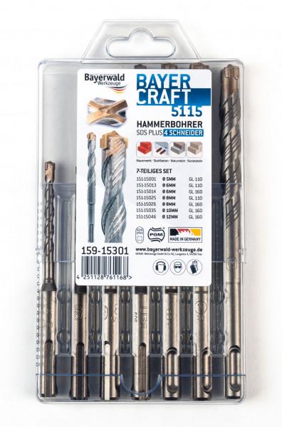 Bayercraft Hammerbohrer Set 7tlg. 5-12 mm (4-Schneider)