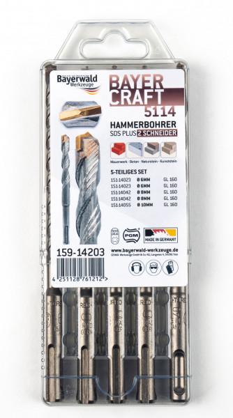 Bayercraft Hammerbohrer Set 5tlg. 6-10 mm (2-Schneider)