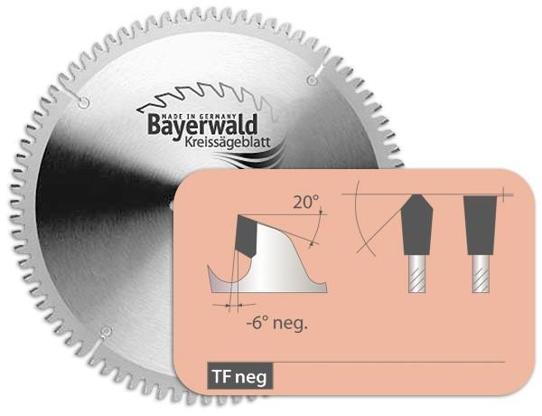 HM Kreissägeblatt - Ø 254 mm x 2,8 mm x 30 mm | TF negativ (80 Zähne)