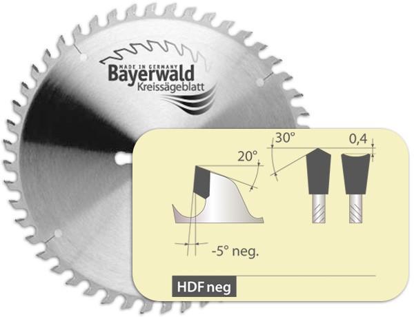 HM Kreissägeblatt - Ø 254 mm x 2,8 mm x 30 mm | HDF negativ (48 Zähne)