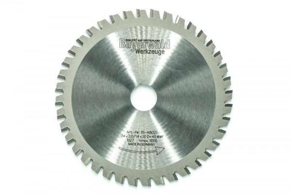HM Multifunktions-Kreissägeblatt - Ø 134 mm x 2,0 mm x 20 mm | Z=40 WWF