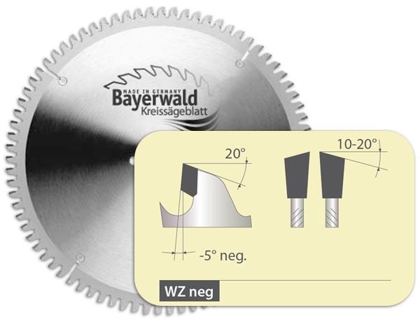 HM Kreissägeblatt - Ø 216 mm x 2,6 mm x 30 mm | WZ negativ (48 Zähne) | Nebenlöcher: 2/7/42